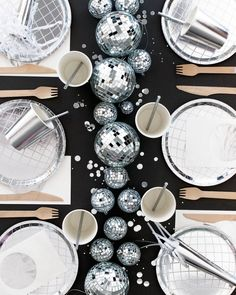 New Disco ball plates! New Disco ball plates! Disco Theme Parties, Disco Party Decorations, Disco Birthday Party, New Years Decorations, Kids Disco Party, Dance Party Kids, 1970s Party Theme, Party Decoration Ideas, 60th Birthday Party Decorations