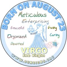 August 23 Birthday Horoscope Personality