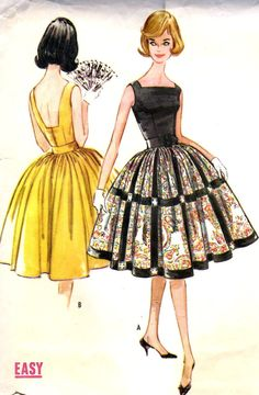 1960s Misses Dress with Attached Petticoat by MissBettysAttic, $12.00