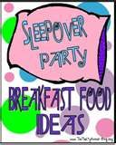 Sleepover Party Breakfast Ideas | ThePartyAnimal-Blog