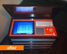 """Before & After: 1960's Stereo Cabinet Turned Into 50,000 Song """"Porta-Party"""" 