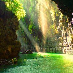 Mooie herinneringen aan - Green Canyon - Java - Indonesië