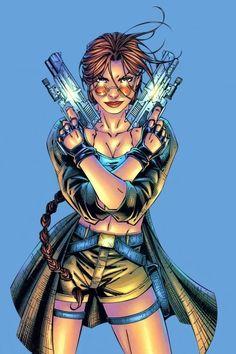 The Comics Girls: Lara Croft Lara Croft: Tomb Raider, Tomb Raider Game, Comic Movies, Comic Books Art, Comic Art, Dc Comics Girls, Lara Croft Tomb, Animation Reference, Marvel Vs