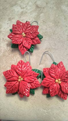 Check out this item in my Etsy shop https://www.etsy.com/listing/217557653/set-of-3-glittered-poinsettias-christmas
