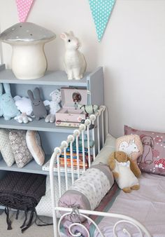 nursery decoration ideas with rabbit lamp and rabbit cushions