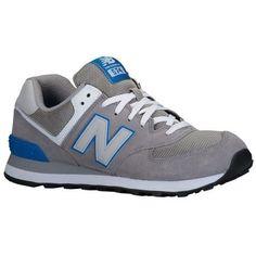8340079bacf3 Men s New Balance 574 Core Plus Grey Blue Trainers Size UK 10 EU 44.5. Kay  Cee · Shoes · AJ1 Slippers Jordan Retro ...