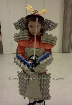 Cool Home Made Samurai Armor from Egg Crates... This website is the Pinterest of costumes