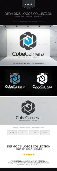 Cube Camera Logo — Vector EPS #image #studio • Available here → https://graphicriver.net/item/cube-camera-logo/9713765?ref=pxcr