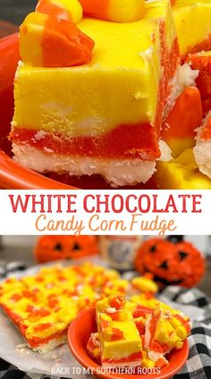 White chocolate candy corn fudge is a sweet treat for Halloween parties. The recipe is easy to make and if you're a candy corn fan you will love this recipe. #ad #sponsoredpost Halloween Themed Food, Easy Halloween Food, Halloween Appetizers, Halloween Recipe, Halloween Parties, Halloween Desserts, Spooky Halloween, Halloween Treats, Fudge Recipes