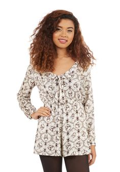 It's a Skull World After All Romper. Its styles like this white romper that make the world go round! #white #modcloth