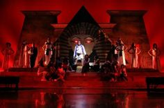 "Ann N. Davis dreamed up an eye-popping set design for ""Joseph and the Amazing Technicolor Dreamcoat"" for Westside Theatre Guild in 2011, coupled with dazzling lighting design by Guy Rhodes."