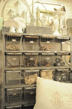 Vintage Metal locker baskets......great for storage