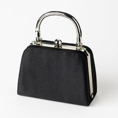 Fabulous Black Satin Evening Bag 7647 | A Moment In Time Boutique