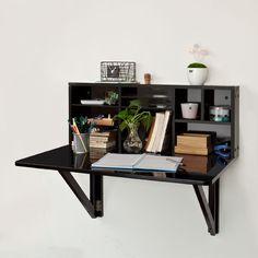 Sobuy fwt07 w table murale rabattable avec etag re for Table pliable murale