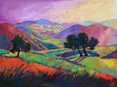 Color Drift colorist oil painting of Paso Robles, in central California, by Erin Hanson
