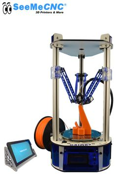 The Orion Delta™ will get you started 3D printing FAST with more standard features than most other 3D printers can too.