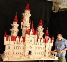 An incredible replica of the Shrek castle, built with KEVA planks! It will be traveling to venues across the USA as part of the Dreamworks Animation Exhibit.
