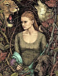 Ilustrações, caneta gel e fantasia - Magdalena Korzeniewska