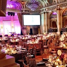 The Grand Ballroom ready for the event to begin!