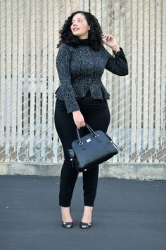 Curvy Fashionista In Dc Peplum Curvy Fashion