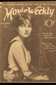 "Corinne Griffith on the cover of ""Movie Weekly"", 1923"