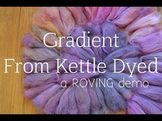 How to Spin a Gradient Yarn from a Non-Gradient Roving - YouTube