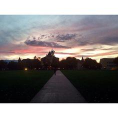 Sunset at Old Main.  #usu #aggielife #sunset