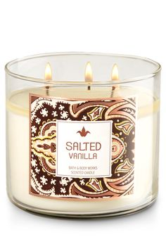 Salted Vanilla 3-Wick Candle - Home Fragrance 1037181 - Bath & Body Works