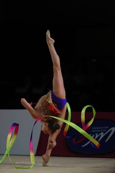 Dina Averina (Russia) won bronze in ribbon at World Cup (Pesaro) 2016