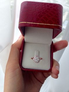 Absolutely right, pink gold engagement ring.