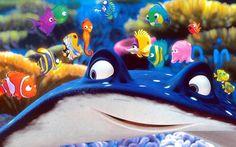 no, I'd never seen Finding Nemo before this past weekend. An early Pixar entry, Nemo was released well . Disney Pixar, Disney Cartoons, Walt Disney, Disney Dinner, Finding Nemo 2003, Pixar Movies, Blu Ray, Ocean Themes, Cartoon Wallpaper