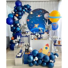 Boys First Birthday Party Ideas, 1st Birthday Party Decorations, First Birthday Party Themes, Birthday Themes For Boys, 1st Boy Birthday, Safari Birthday Party, Astronaut Party, Space Party, Shower