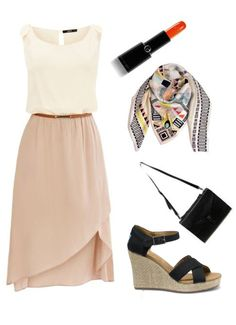 Best-Dressed Guest: Outfit Inspiration for the Summer Wedding Season - The Rehearsal Dinner. ^ Honestly, I'm not sure what to call this outfit, it's just a nice outfit. Casual Summer Dresses, Trendy Dresses, Nice Dresses, Casual Outfits, Summer Outfits, Cute Outfits, Dress Summer, Dress Casual, Party Looks