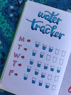 Bujo Planner! Water Tracking