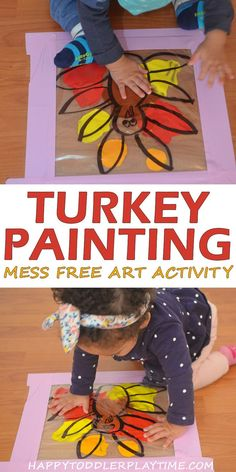 Mess Free Thanksgiving Art Activity - HAPPY TODDLER PLAYTIME #thanksgivingcrafts #toddlercrafts #preschoolers #kidscrafts #craftsforkids #crafts #kidsactivities #toddleractivities #kindergarten