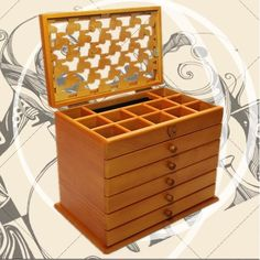 Find More Storage Boxes & Bins Information about Have 6 layers of large capacity wooden jewelry box jewelry box jewelry box wood,High Quality wooden boxes storage,China box wood Suppliers, Cheap wooden box puzzle from Commodity wholesale 2 on Aliexpress.com