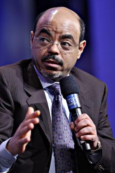 Meles Zenawi, prime minister of Ethiopia, speaks during the Clinton. Ethiopian People, Haile Selassie, World Leaders, Prime Minister, World History, 19th Century, The Past, Africa, Public