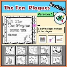 The Ten Plagues of Egypt coloring booklets Passover Distance Learning Plagues Of Egypt, 10 Plagues, Teacher Games, Teacher Resources, Elementary Teacher, Elementary Schools, Educational Websites, Bible Crafts, Student Teaching