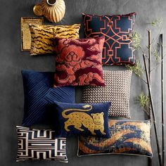 Discover Williams-Sonoma Home's velvet throw pillows and pillow covers perfect for any living room. Shop velvet accent pillows in a variety of prints and colors. Velvet Pillows, Linen Pillows, Decorative Pillows, Throw Pillows, Accent Pillows, Decorative Baskets, Owl Pillows, Decorative Bowls, Williams Sonoma