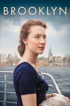 Brooklyn Movie Poster - Saoirse Ronan, Domhnall Gleeson, Emory Cohen  #Brooklyn, #MoviePoster, #Drama, #JohnCrowley, #DomhnallGleeson, #EmoryCohen, #SaoirseRonan