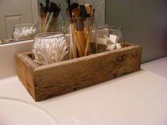 Barnwood Bathroom Organizer, Rustic Bathroom Decor, Rustic Decor, Bathroom Organizer