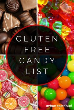 Gluten Free Candy List and Ultimate Guide - Updated 2019 Dairy Free Gluten Free Desserts, Gluten Free Food List, Gluten Free Chocolate, Gluten Free Cooking, Foods With Gluten, Vegan Candy List, Hypothyroidism, Ibs, Gluten Free Products