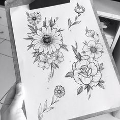Ideas for flowers arrangements tattoo tat Botanical Line Drawing, Floral Drawing, Body Art Tattoos, Tattoo Drawings, Art Drawings, Tatoos, Flower Sketches, Art Sketches, Illustration Tattoo