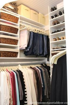 How to build a closet using every available inch!
