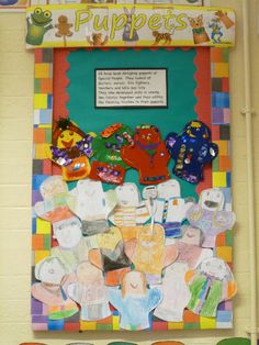 Puppets classroom display photo from ZB.