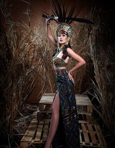 an experiential beauty, lifestyle and travel site based in the Philippines. Philippines Outfit, Modern Filipiniana Gown, Filipino Fashion, Spanish Dress, Filipino Culture, Tribal Costume, Filipino Tribal, Warrior Queen, Gala Dresses