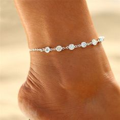 7 Diamonds Women Girl Beaded Bracelet Anklet Beach Barefoot Sandal Foot Chain #AnkletsJewelry