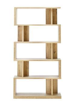 Buy Bronx Light Shelving Unit from the Next UK online shop Tall Shelves, Bookcase Shelves, Wooden Shelves, Shelving, Corner Ladder Shelf, Light Oak, Next Uk, Bedding Collections, Deco