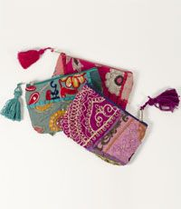 Gorgeous Color Splash Coin/Phone Purse in variety of  colors. Handmade in India by Matr Boomie (wholesale) #fairtrade