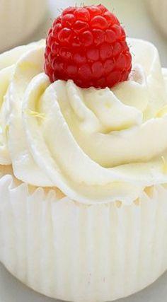 Raspberry Lemon Angel Food Cupcakes